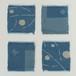 山﨑菜穂子さんの藍染めコースター