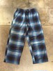 00s Flannel  Pants /Ombre check