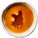 フレンチ・ブルドッグのシルエットが浮かぶお醤油小皿(丸)