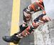 紅色 【オレンジ】定番おしゃれ 迷彩柄 レディース  レギンス パンツ スパッツ