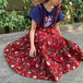 (LOOK) flower jumper skirt