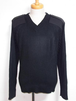 1990's U.S. Vネックコマンドセーター USA製 ブラック黒 表記(L)