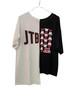 【JTB】 アシンメ トップス【ホワイト×ブラック】【新作】イタリアンウェア【送料無料】《W》