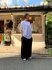 WOMENS:FITH【フィス】シルクコットンバックロゴ5分袖Tシャツ(WHITE/1,2サイズ)