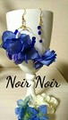 ブルーの紫陽花 アシンメトリーピアス