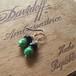 【New Line】Vintage beads motif フックピアス