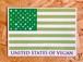マグネットステッカー USV(United States of Vegan)