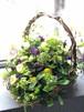 【生花】 冠婚葬祭 ハンドメイドの手付きバスケットのフラワーアレンジメント 手付きフラワーバスケット