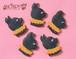 ハロウィンクッキー大サイズ 黒猫よこがお SHONPY アイシングクッキー