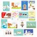 2021うし年賀状 オリジナルポストカード15種類15枚入り(写真用光沢年賀葉書印刷タイプ)