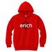 ERICH / HEXAGRAM LOGO HOODED SWEATSHIRT RED