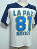 1980's THE KNiTS バイカラーフットボールTシャツ 白×紺 表記(M)