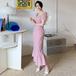 【dress】おしゃれ度高まる  ファッションチェック柄チュニックデートワンピース