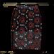 アフリカ柄セミロングスカート(黒)