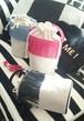 円筒形ふりふりフリンジバスケットバッグ~☆フューシャピンクね