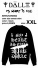 """over size sweat shirt """"My HEART is EVIL""""<XXL>"""