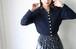 Yves Saint Laurent navy knit tops