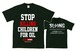 IGNORANCE x SLANG  WネームT-SHIRT 【STOP KILLING CHILDREN FOR OIL】