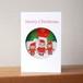 サンタとお弟子の丸窓クリスマスカード