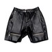 Leather Shorts [Black]