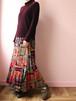 vintage print pealts skirt