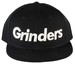 GRINDERS  logo snap back CAP (black)