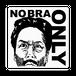 """NO BRA ONLY""ステッカー(色:白・黒/黄色・黒)"