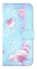 【iPhone6/6s】 Peony Dream 芍薬の夢 ライトブルー 手帳型スマホケース