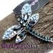 英国 ブランド Buckingham タグ付き☆サファイアブルー ラインストーン とんぼ ブローチ 勝ち虫 蜻蛉