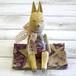 【Atelier soleil*】木彫りお月見ウサギ/木彫り人形