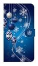 【鏡付き Lサイズ】Winter Holiday Royal Blue ウィンター・ホリデー ロイヤルブルー 手帳型スマホケース