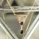 K10YG オニキスの揺れる三角ネックレス