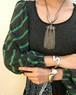 Vintage  black × green knit tops ( ヴィンテージ  ラメ ニット トップス )