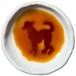 イタリアン・グレーハウンドのシルエットが浮かぶお醤油小皿(丸)