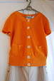 CHANEL Orange Knit Tops