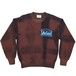 Aries CREW SWEAT TIE DYE RED BLACK