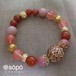 089. power stone jewelry bracelet -oriental red-