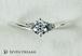 プラチナ婚約指輪 6ポイント2サイドVシェイプエンゲージ