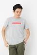 GRACIOUS GROUND ボックスックスロゴ プリント Tシャツ 半袖  杢グレー
