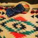 デニムカラーのターバン 手編みヘアバンド
