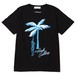 HOTEL FLAMINGO TEE - PALM TREE SKULL (BLACK) / RUDE GALLERY