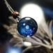 きらめくガラスの宇宙ペンダント/【訳あり品】202011208-2