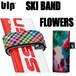 blp スキーバンド2個セット フラワー スキー板の持ち運びに!