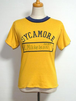 1980's Moorewear ダブルフェイスリバーシブルTシャツ 黄×紺