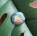 Rainbow Flower Labradorite Cabochon