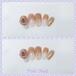 3D 薔薇❤︎グラデーション茶色ネイルチップ/つけ爪