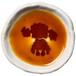 プードルのシルエットが浮かぶお醤油小皿(丸)