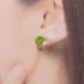 ブロッコリーのスタッドピアス(野菜, レジン, 送料無料)