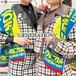 【ayanonno28様着用】【2点セット】2色/起毛チェックライダースジャケット+スカート ・4970