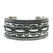 Navajo Sterling Silver Stamp Bangle by Darryl Becenti